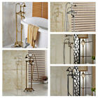 Floor-Mounted Bathroom Bath Tub Filler Brass Mix Faucet Handshower Free standing