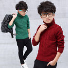 Child Kids Boys Girls Pullover Turtleneck Sweater Warm Knitted Jumpers Outwear