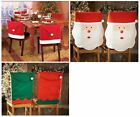 New Pack of 2 Elf / Santa Hat Face Dining Chair Covers Christmas Xmas Decoration