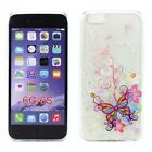 iPhone 6s / iPhone 6 4.7 Crystal Clear Soft Design Case (Butterfly Flower)