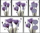 Royal Purple Gentian Trio Wall Decor Light Switch Plate Cover
