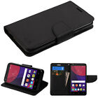 New For Alcatel Pixi 4 (6) Leather Flip Card Wallet Case Cover Stand Pouch BLACK