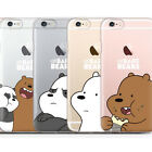 We Bare Bears Clear Jelly Case iPhone 6/6S Case iPhone 6/6S Plus Case 9 Types