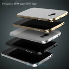 Metal Bumper Gorilla Glass Back Cover Case for Samsung Galaxy S6 S7 S6/S7 Edge