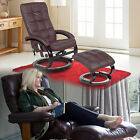 Leather Swivel Recliner Chair With Foot Stool Armchair Optional Massage Function