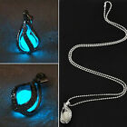 Water Drop Shaped Luminous Jewelry Pendant Women Chain Necklace Open Design New