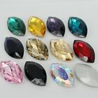 20pcs 17x32mm Marquise Stone Glass Beads Crystal Rhinestones Eye Shape DIY Decor