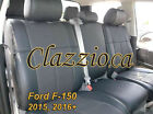 2015-2017 FORD F150 SUPER CAB | CLAZZIO LEATHER SEAT COVER (1ST+2ND ROW SEAT)