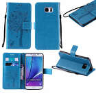 New Flip Leather Pattern Card Wallet Phone Case Cover For Samsung Galaxy Phone