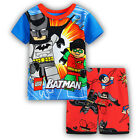 LEGO Batman super Boys cotton pjs pyjamas spring autumn sleepwear size 1-6 in AU