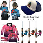 KIDS Fishing Combo - Zman Tournament KIDS Shirt + Shakespeare Amphibian + Hat