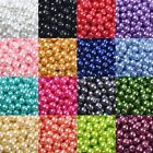 20/50/100pcs Wholesale Glass Pearl Round Spacer Loose Beads 4mm/6mm/8mm/10mm