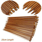 36PCS Carbonized Bamboo Crochet Hooks Set Single Point Yarn Knitting Needles Kit