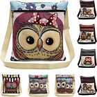 Embroidered Owl Tote Bags Women Shoulder Bags Handbags Postman Package Satchel