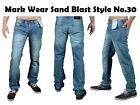 MEN'S BLU BLACK SKINNY JEANS DENIM STAR FASHION REGULAR SLIM FIT TROUSER STY 30