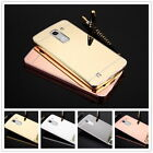 Luxury Alumium Bumper Mirror Acrylic PC Back Cover Case For LG G2/3/4/5 K10 V10
