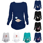 Women Maternity Clothes Cute Print Funny Pregnant T-Shirt Tee Nursing Top Blouse