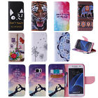 Painted Leather Flip Stand Phone Case Cover for Samsung Galaxy S5/S6/S7 & edge