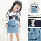 Toddler Baby Girls Kids Casual Party Long Sleeve T-Shirt Dress Skirt Clothing