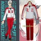 Yuri on Ice Victor Nikiforov Sportswear Suit Outfit Coat Pants Cosplay Costume