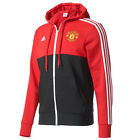 adidas Men's Manchester United 3-Stripe Full-Zip Hooded Jacket ReaRed/Blk AZ9848