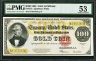 FR 1215 1922 $100 ONE HUNDRED GOLD CERTIFICATE PMG ABOUT UNCIRCULATED-53