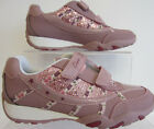 Clarks Vintage Pink Jnr Daisybrite Trainers F.Fitting Childs UK1.5 (GO)