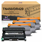 TN450 420 Toner or DR420 Drum Lot for Brother HL-2220 2230 2270 DCP-7065DN 7060D