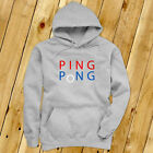 PING PONG BALL TABLE TENNIS PADDLE PLAYER GAMES Mens Gray Hoodie