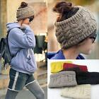 Women Girls Knitted Headband Hairband Crochet Wool Hat Headwrap Earmuff Warm