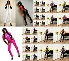 PVC Catsuit Jumpsuit  Black White Red Blue Purple Yellow 6-16 UK New With Tags