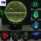 Star Wars Death Star 3D LED Night Light 7 Colour Touch Table Desk Art Lamp Gifts $29.98 AUD