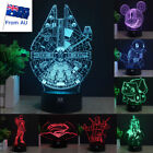 Star Wars Millennium Falcon 3D Acrylic LED Night  Light Desk Table Art Lamp Gift $24.98 AUD