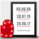 Personalised Couples Husband Wife Love Story Valentines Day Gift Mr Mrs Presents