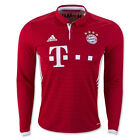 adidas Men's FC Bayern Munich 16/17 Long Sleeve Home Jersey Fcb True/Wht AI0051