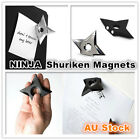 2 Pcs Metal Ninja Shuriken Fridge Magnet Freezer Cabinet Memo Message Board New