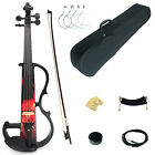 Kinglos Full Size 4/4 Colored Solid Wood Intermediate-B Electric / Silent Violin