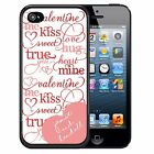 PERSONALIZED VALENTINES RUBBER CASE FOR iPHONE 5 5S 5C SE 6 6S 7 PLUS TYPOGRAPH