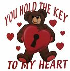 Valentines Day Bear Shirt, You Hold Key To My Heart , Hearts, Love, Small - 5X