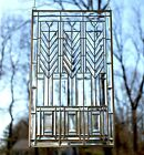 "Stained glass Beveled clear window panel FRANK LLOYD WRIGHT ""TREE OF LIFE"" 20*34"