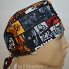 STAR WARS Heroes in Squares TRADITIONAL Tie Back Surgical Scrub Cap Hat $15.5 USD