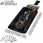 Nissan R35 GTR Skyline Clock Cluster - Universal Leather Phone Pouch Case Cover