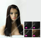 "Free Shipping Top Malaysian Silky Straight Full Lace Wig 100% Human Remy 12""-22"""