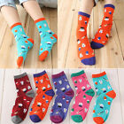 Women XMAS Gif Christmas Deer Sock Snowflake Santa Snowman Cotton Cartoon Socks