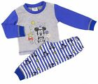 Baby Boys Baby Mickey Mouse Pyjamas Sleepwear 6-9 to 18-24 Months Cuffed Ankle