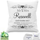 Personalised Wedding Day Mr Mrs Cushion Soulmate Anniversary Cotton Gift 18x18