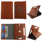 "Folio Cover For Acer Iconia Tab A100 7"" - Leather(PU)-360° Stand-Card Pockets"