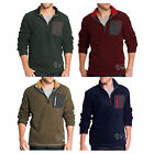 NWT G.H. Bass & Co.EXPLORER Men's Arctic Terrain Fleece Quarter-Zip Jacket $94