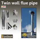 6 inch Diameter Twin Wall Flue External System - For use with Woodburning Stove