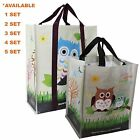 Combo SET EcoJeannie SuperStrong Laminated Mini Woven Reusable Shopping Tote Bag